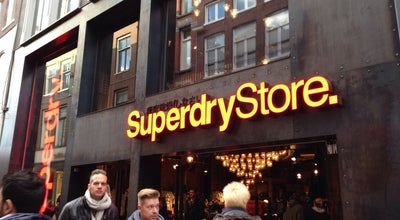Photo of Clothing Store Superdry at Kalverstraat 178, Amsterdam 1012 XG, Netherlands
