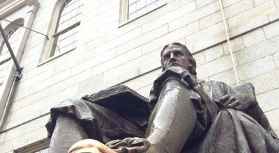 Photo of Monument / Landmark John Harvard Statue at Harvard Yard, Cambridge, MA 02138, United States