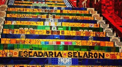 Photo of Monument / Landmark Escadaria Selarón at R. Joaquim Silva, Rio de Janeiro 20241-120, Brazil