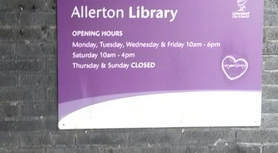 Photo of Library Allerton Library at Allerton Rd, Liverpool L18 6HG, United Kingdom
