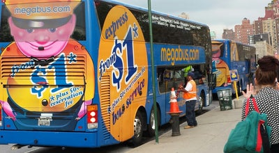 Photo of Bus Stop Megabus Terminal - W 34th St & 11 Av at W 34th St, New York, NY 10001, United States