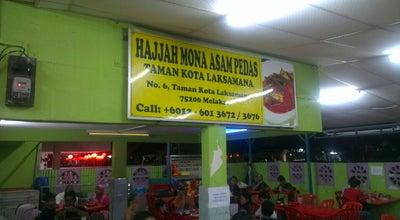 Photo of Malaysian Restaurant Hajjah Mona Asam Pedas at 6, Jalan Laksamana, Melaka 75300, Malaysia