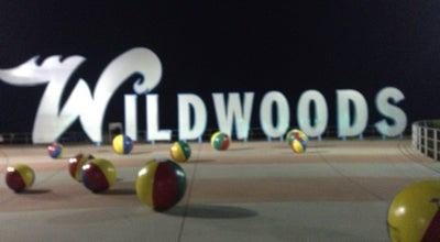 "Photo of Beach ""Wildwoods"" Sign at Wildwood, NJ 08260, United States"