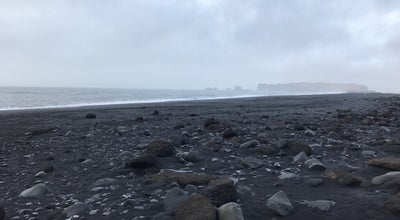 Photo of Beach Black-sand beach at Vik, Iceland