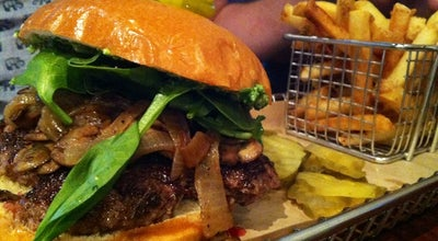 Photo of American Restaurant Hops Burger Bar at 2419 Spring Garden St, Greensboro, NC 27403, United States