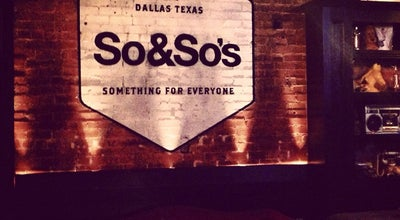 Photo of Bar So&So's at 3309 Mckinney Ave, Dallas, TX 75204, United States