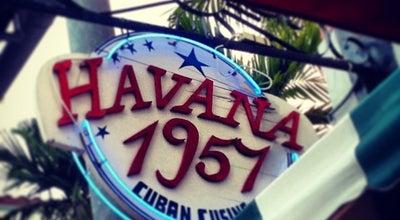 Photo of Caribbean Restaurant Havana 1957 Cuban Cuisine Espanola Way at 405 Espanola Way, Miami Beach, FL 33139, United States