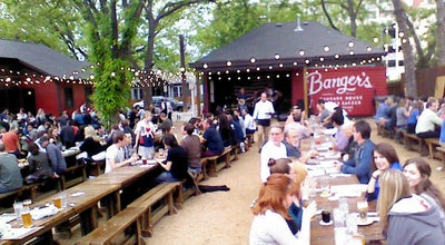 Photo of American Restaurant Banger's Sausage House & Beer Garden at 79 & 81 Rainey St, Austin, TX 78701, United States