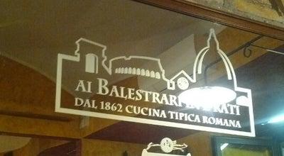 Photo of Italian Restaurant Ai Balestrari in Prati at Piazza Dell'unita, 27, Rome 00186, Italy