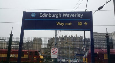 Photo of Train Station Edinburgh Waverley Railway Station (EDB) at Station Brae, Edinburgh EH1 1BB, United Kingdom