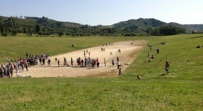 Photo of Historic Site Αρχαίο Στάδιο Ολυμπίας (Olympia Stadium) at Αρχαιολογικός Χώρος Ολυμπίας, Αρχαία Ολυμπία, Greece