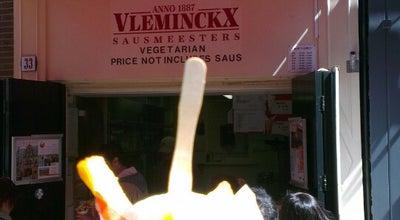 Photo of Belgian Restaurant Vlaams Friteshuis Vleminckx at Voetboogstraat 31-33, Amsterdam 1012 XK, Netherlands