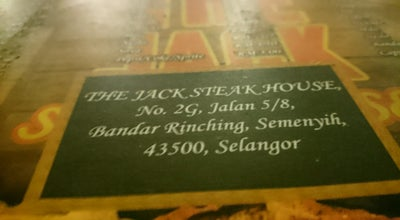Photo of Steakhouse The jack steak house at Seksyen 5 Bdr Rinching, semenyih 43500, Malaysia