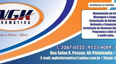 Photo of Electronics Store WGK INFORMATICA at Solon Rodrigues Pessoa, 46, Boa Vista 69316-694, Brazil