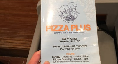 Photo of Restaurant Pizza Plus at 359 7th Ave, Brooklyn, NY 11215, United States