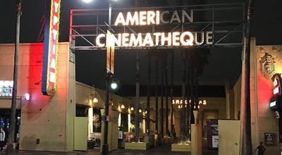 Photo of Movie Theater American Cinematheque at 6712 Hollywood Blvd, Los Angeles, CA 90028, United States