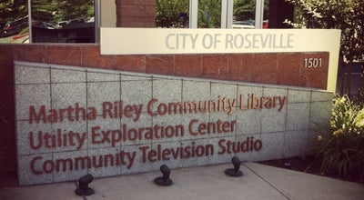 Photo of Library Martha Riley Community Library at 1501 Pleasant Grove Blvd, Roseville, CA 95747, United States