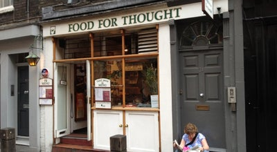 Photo of Vegetarian / Vegan Restaurant Food For Thought at 31 Neal St, Soho WC2H 9PR‎, United Kingdom