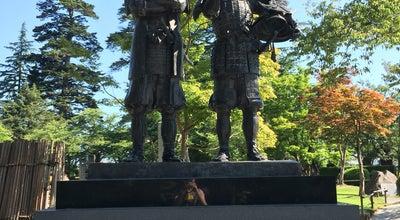 Photo of Monument / Landmark 上杉景勝公と直江兼続公 主従像 at 丸の内, 米沢市 992-0052, Japan