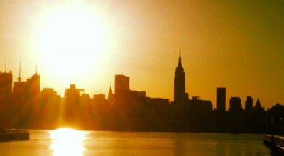 Photo of Scenic Lookout Hudson River Waterfront Walkway at Frank Sinatra Dr, Hoboken, NJ 07030, United States