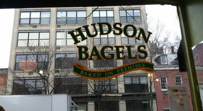 Photo of American Restaurant Hudson Bagels at 502 Hudson St, New York, NY 10014, United States