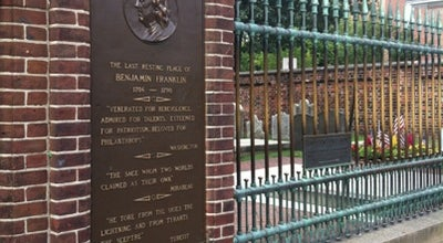 Photo of Cemetery Benjamin Franklin's Grave at 5th And Arch Streets, Philadelphia, PA 19106, United States