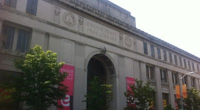 Photo of Library Enoch Pratt Free Library at 400 Cathedral St, Baltimore, MD 21201, United States