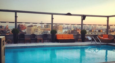 Photo of Hotel Bar Plunge Rooftop Bar & Lounge at 18 9th Ave, New York, NY 10014, United States