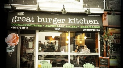 Photo of Restaurant Great Burger Kitchen at 1056 Gerrard St E, Toronto M4M 1Z8, Canada
