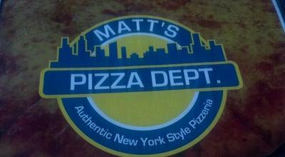 Photo of Pizza Place Matt's Pizza Dept. at 205 Grandview Dr, Summerville, SC 29483, United States