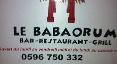 Photo of French Restaurant Le Babaorum at 42 Route De Chateauboeuf, Fort-de-France 97200, Martinique