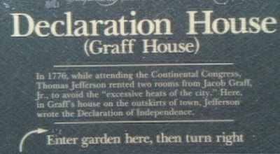 Photo of Historic Site Declaration House (Graff House) at Seventh And Market Streets, Philadelphia, PA 19106, United States