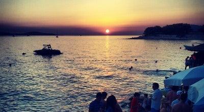 Photo of Bar Hula hula beach bar at Splitsko Dalmantina, Hvar, Croatia