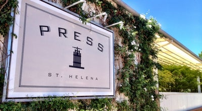 Photo of Steakhouse Press Restaurant at 587 St. Helena Hwy (hwy 29), St. Helena, CA 94574, United States