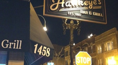 Photo of Sports Bar Hawkeye's at 1458 W Taylor St, Chicago, IL 60607, United States
