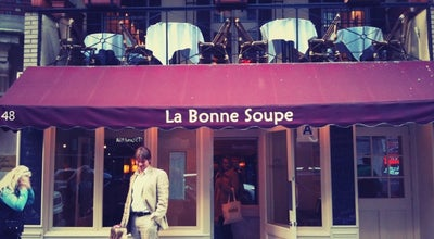 Photo of French Restaurant La Bonne Soupe at 48 W 55th St, New York, NY 10019, United States