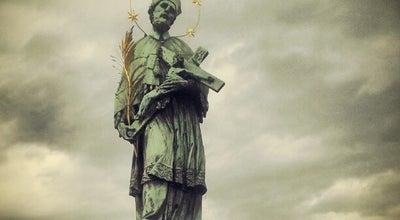 Photo of Monument / Landmark St. John of Nepomuk Statue at Prague, Czech Republic