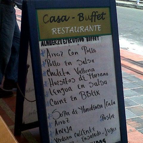 Restaurante Casa Buffet en Bogotá