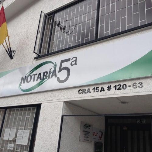 Notaría 05  Carrera 15A en Bogotá