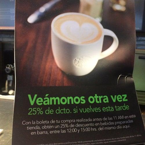 Starbucks - Pedro De Valdivia en Santiago