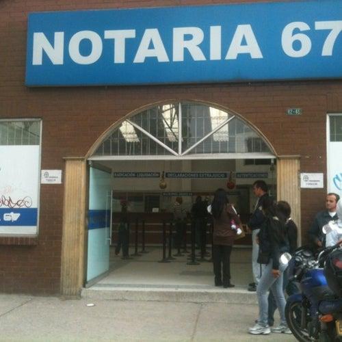 Notaría 67 - Avenida Calle 72 en Bogotá