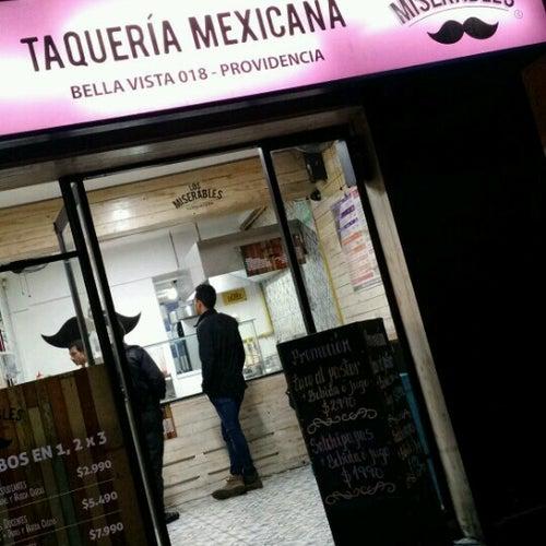 Taquería Los Miserables  en Santiago