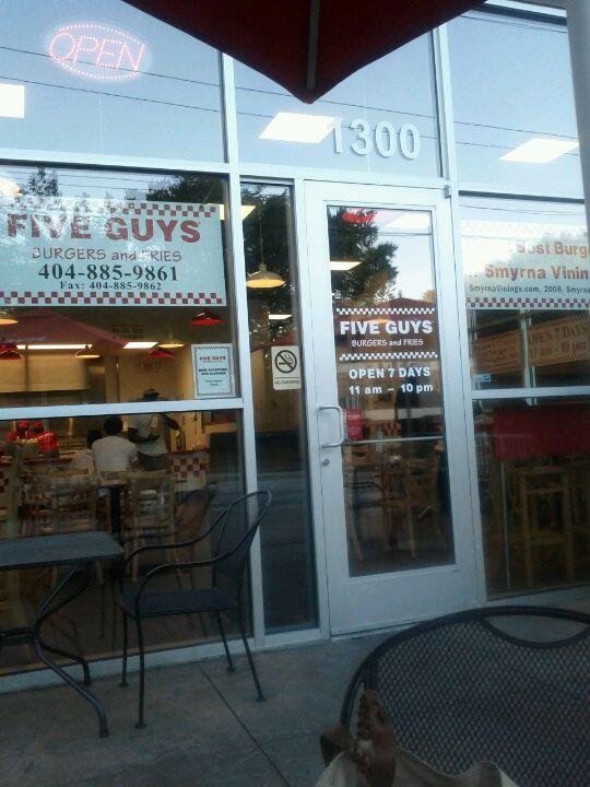 Five Guys At 1000 Northside Drive Suite 1300 10th St Atlanta GA