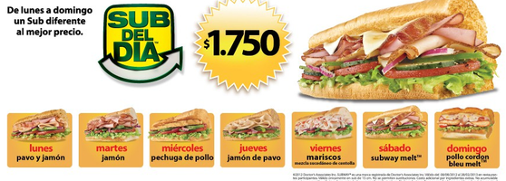 subway sandwich place in santiago