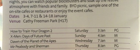 Check Out The Sydney Olympic Parks Website For A List Of Free Outdoor Movies That Runs Through January Each Year Heres This Years One