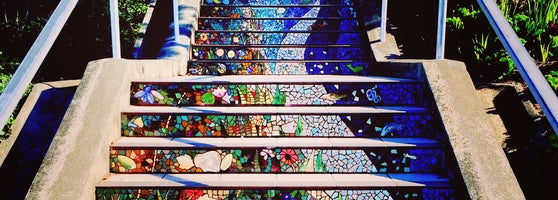 Beautiful Mosaic Stairs. Views From The Top Are Incredible!