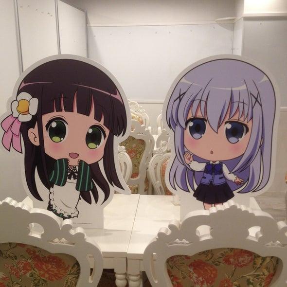 プリンセスカフェ 名古屋栄館 ごちうさ(ご注文はうさぎですか??)パネル(千夜&チノ)
