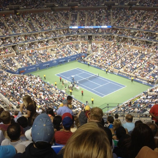 Photo taken at US Open Tennis Championships by Michael F. on 9/2/2012