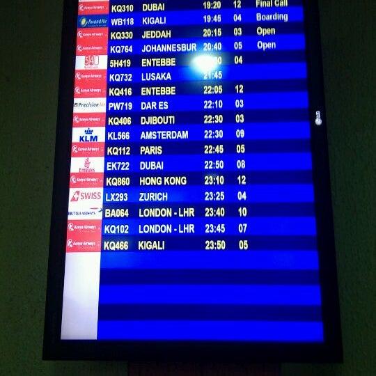 Photo taken at Jomo Kenyatta International Airport (NBO) by Alan F. on 6/16/2012