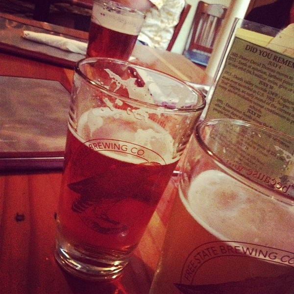 Photo taken at Free State Brewing Company by Brooke on 7/30/2012